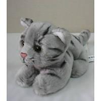Кошка серая полосатая Devik Tiys, 19 см