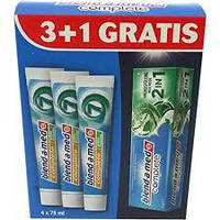 Зубная паста blend-a-med отбеливающая, 4*74 мл
