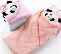 """Детское полотенце с капюшоном """"панда"""" №2160 ассорти"""
