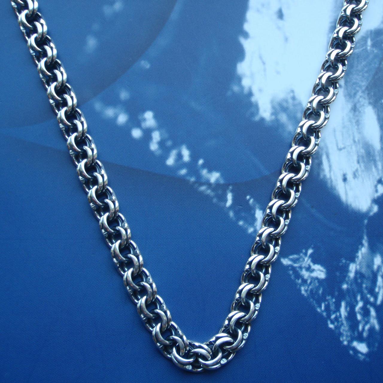 Серебряная цепочка, 600мм, 39 грамм, плетение Бисмарк