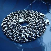 Серебряная цепочка, 600мм, 39 грамм, плетение Бисмарк, фото 2