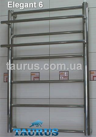 Полотенцесушилка из полированной нержавеющей стали с полочкой Elegant 6/650х500 мм.