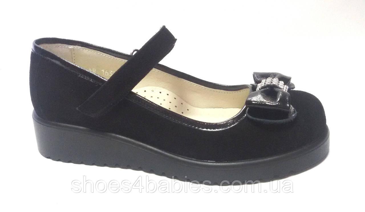 Туфли для девочки р. 30-33 TM FS замшевые черные