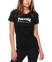 Женская футболка Thrasher, чёрная