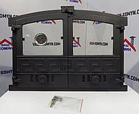 Дверка со стеклом для хлебной печи с термометром (60х43 см/51,5х37 см)