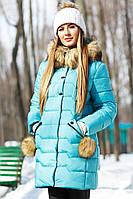 Ультрамодная стеганая куртка полуприталенного фасона 42-56р