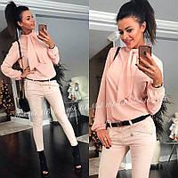 Блуза женская с шейным платком