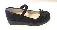 Туфли для девочки р. 34 - 22см TM FS кожаные черные