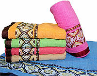 "Махровое полотенце для лица ""вышивка""  №Л-1905"