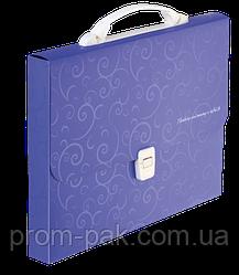 Портфель пластиковий A4/35мм, BAROCCO, фиолетовый