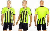 Футбольная форма Dinky (PL, р-р S-2XL, салатовый, шорты черные), фото 1