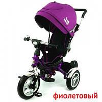 Детский трехколесный велосипед Best Trike 5388, надувные колёса, фиолетовый, 3 цвета
