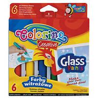 Краски для стекла Colorino 10.5 мл x 6 цветов