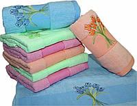 """Махровое полотенце для лица """"букет"""" №Л-2262"""