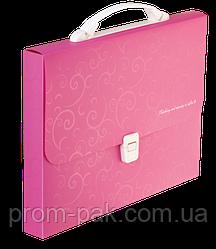 Портфель пластиковий A4/35мм, BAROCCO, розовый