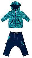 Smil Спортивный костюм р68-86 бирюза/синий