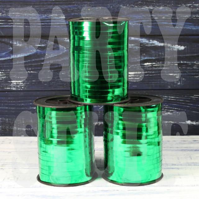 лента для шаров зеленый металлик