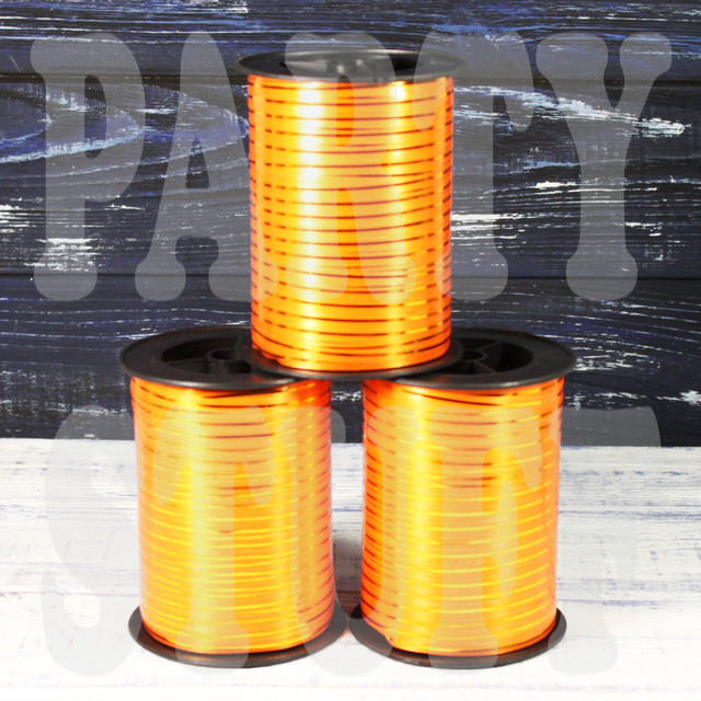 оранжевая лента для шаров