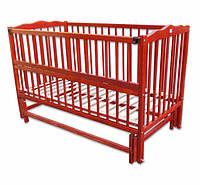 Кроватка детская Labona Мрия № 4 на шарнирах с подшипником, откидная боковина (тик)