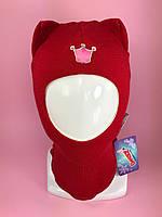 Детская зимняя шапка-шлем Кошка 1450 гвоздика