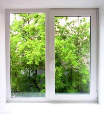 Двойное металлопластиковое окно KBE 1100х1350