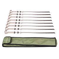 Набор стальных шампуров 8 шт. в чехле Mousson S4B8