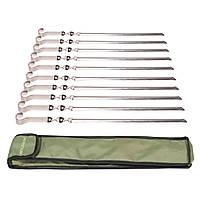 Набор стальных шампуров 10 шт. в чехле Mousson S4B10