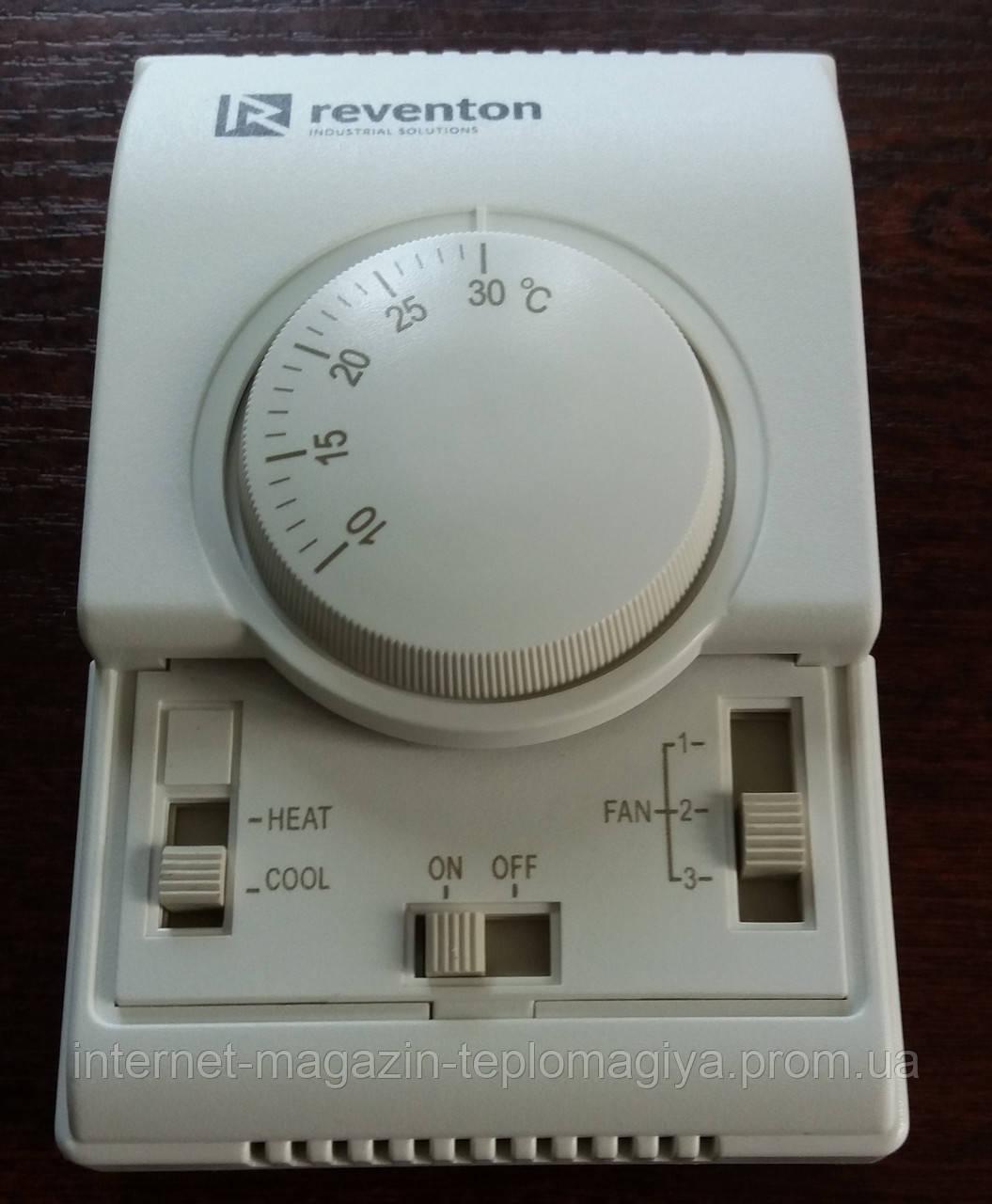 Регулятор скорости с комнатным термостатом Reventon RTHC3S