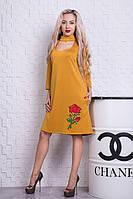 Платье с аппликацией розы