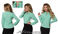 Стильная женская блуза с рюшами  ( 42 - 50 )