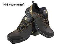 Кроссовки коричневые натуральная кожа на шнуровке (М-1), фото 1