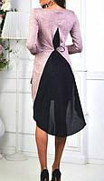 Блуза с удлинённой спинкой женская, фото 1