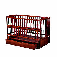 Кроватка детская Labona Мрия №4 на шарнирах, откидная боковина, ящик (тик)