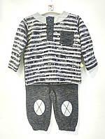 Bi baby Комплект Кофта+штани р62-80 синий-меланж