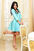 Женское пышное платье с неопрена с декольте 5 цветов