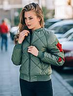 Куртка женская Бомбер №37 (3 цвета), женская демисезонная куртка, фото 1