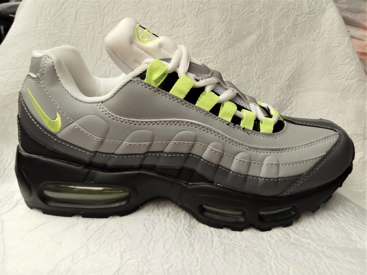 cebe4be3 Мужские кроссовки Nike Air Max 95 серые кожаные: продажа, цена в ...
