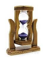Песочные часы на деревянной подставке (12,5х10х5,5 см.)