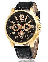 Мужские часы Leo all black черные mw10-01
