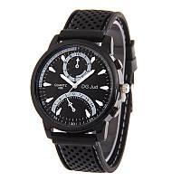 Мужские часы DG силиконовый ремешко черные mw13