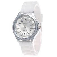 Часы женские Womage силиконовый ремешок Белые 068-1