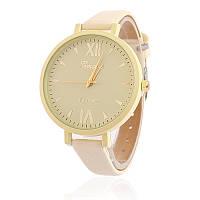 Часы наручные женские Geneva тонкий ремешок нюдовые