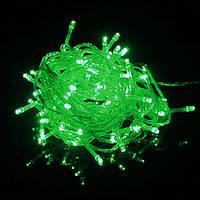 Гирлянда светодиодная 100 led Зеленая (белый провод)