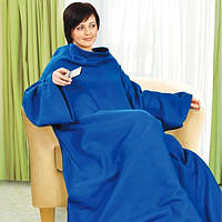 Плед с рукавами и карманом 175 х 150 см Синий