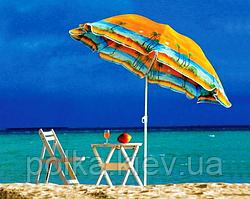 Пляжный зонт 2 метра с наклоном Anti-UV