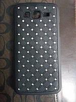 Чехол накладка Samsung G360 black черный со стразами