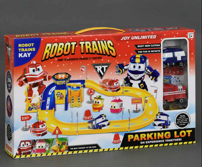 Игровой набор. Гараж. Парковка.Robot Trains.