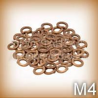 Шайба 4 бронзовая ГОСТ 6402-70 (DIN 7980) пружинная (гровера) квадратного сечения