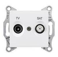 Розетка спутниковая телевизионная конечная Sedna Schneider Electric белая. Цена розничная, оформляйте заказ и получите скидку!!!