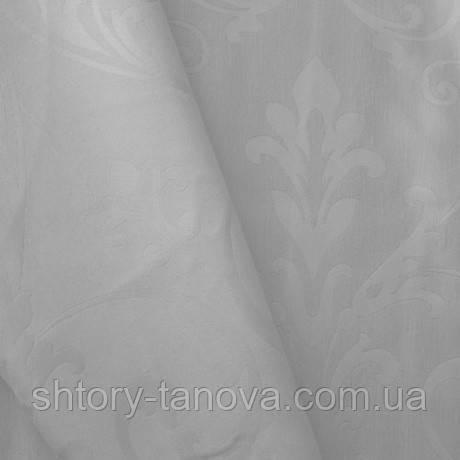 Ткань для портьер вензель белая